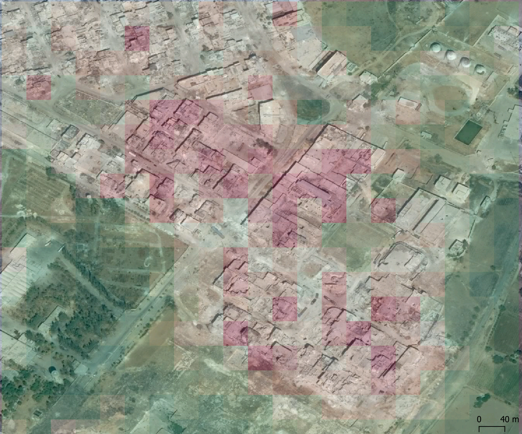 Destroyed Factory as seen by Neural Network